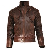 Lockout Guy Pearce Brown Leather Jacket